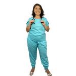Pijama Cirúrgico Feminino Trendy - Azul Claro