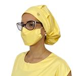 Touca Cirúrgica e Máscara Amarela