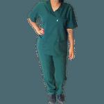 Conjunto Cirúrgico em Microfibra Verde Botanical
