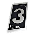 Números Residenciais Vidro Espelhado