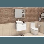 Gabinete De Banheiro Cozimax Caeté Branco Calcaré 60,0cm