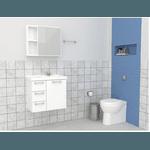 Gabinete De Banheiro Cozimax Ameixa Branco 59,6cm