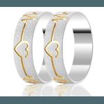 Alianças Shariha ♥ Namoro e Compromisso em Prata 0,950