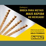 Broca de Aço Rápido 4,5 mm Alta Performance Premium Dewalt Gold Ferrous