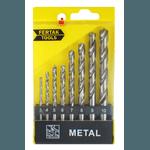 Jogo de brocas para metal de 3 à 10mm com 8 peças - FertaK