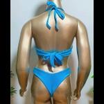 Conjunto Bahamas Azul Celeste ( Canelado)