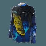 Camiseta Masculina Mar Negro Fishing Tucunare Azul I 2021