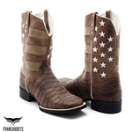 bota texana bico quadrado american escamada