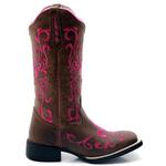 bota texana bico quadrado -pink