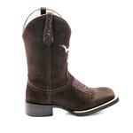 Bota texana Franca Boots em couro - BOI PINK