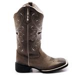 Bota Texana Feminina Franca Boots Hopper Cruz cor Grafite