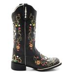 Bota Texana feminina Franca Boots Caveira Mexicana Preta