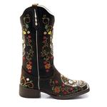 Boata Texana feminina Franca Boots Caveira Mexicana cor CAFÉ