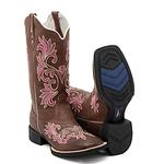 Bota Texana hopper feminina Franca Boots rosa