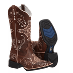 Bota Texana feminina Franca Boots bico quadrado hopper