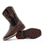 bota texana infantil bordada replica avestruz