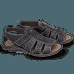 Sandália Papete Masculina de Couro Preto 980