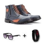 Combo Coturno 505 + Relogio+óculos