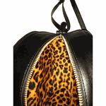 Bolsa Redonda Feminina Lisa Couro Eco Mini Bag Transversal Preto