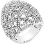 Anel Abaulado Cravejado com Diamantes
