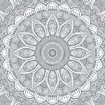 Papel de Parede Adesivo - Mandala mod.3