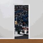 Adesivo para Porta - Ayrton Senna na Curva