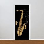 Adesivo para Porta - Saxofone