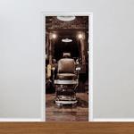 Adesivo para Porta - Barbearia