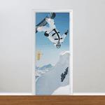 Adesivo para Porta - Snowboard