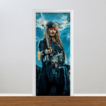 Adesivo para Porta - Piratas do Caribe Jack Sparrow