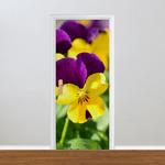 Adesivo para Porta - Florais Amor Perfeito