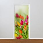 Adesivo para Porta - Florais Tulipa
