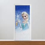 Adesivo para Porta - Frozen Elsa Neve