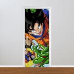 Adesivo para Porta - Dragon Ball Goku Voando