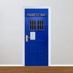 Adesivo para Porta - Madeira Police Box Londres
