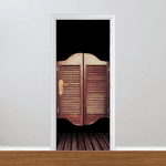 Adesivo para Porta - Madeira Saloon