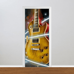 Adesivo para Porta - Musical Guitarra Efeitos