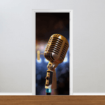 Adesivo para Porta - Microfone