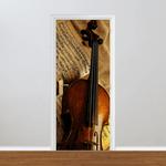 Adesivo para Porta - Violino