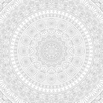 Papel de Parede Adesivo - Mandala mod.1