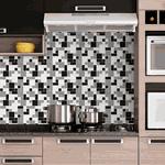 Pastilhas Resinadas - Variada Mosaico Preta