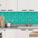 Pastilhas Resinadas - Variada Mosaico Verde Escuro