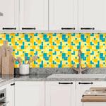 Pastilhas Resinadas - Variada Mosaico Azul e Amarelo
