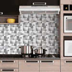 Pastilhas Resinadas - Variada Mosaico Cinza
