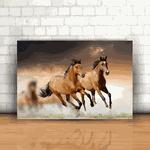 Placa Decorativa - Cavalos