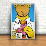 Placa Decorativa - Homer Simpson Trabalhando