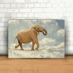 Placa Decorativa - Elefante Corda bamba