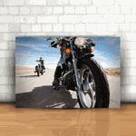 Placa Decorativa - Moto Route 66