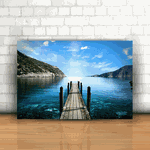 Placa Decorativa - Deck Montanhas