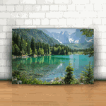 Placa Decorativa - Natureza Montanhas